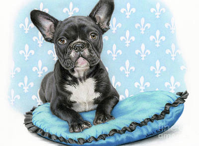 French Bulldog Painting - Draw Me Like One Of Your French Girls by Sarah Batalka