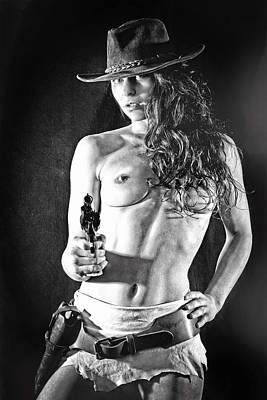 Nude Cowgirl Photograph - Draw by Stefan Schug