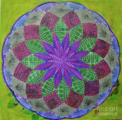 Wall Art - Mixed Media - Draw The Circle Wide Mandala by Jeanette Clawson