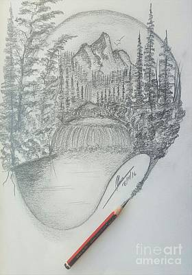 Drawing A Masterpiece  Original by Collin A Clarke
