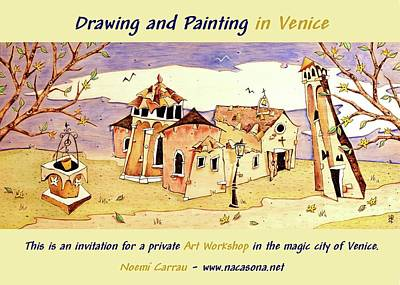 Mixed Media - Drawing And Painting In Venice by Arte Venezia