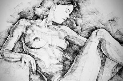 Drawing - Drawing Beautiful Girl by Dimitar Hristov