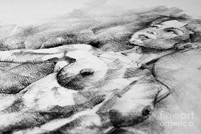 Drawing - Drawing Girl Pose Portrait by Dimitar Hristov