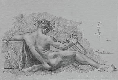 Drawing - Drawing Male Nude #1805292 by Hongtao Huang