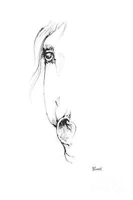 Andalusian Horse Drawing - Drawing Of A Horse 2017 02 06 by Angel Tarantella