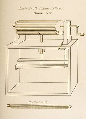 Cylinders Drawing - Drawing Of Lewis Paul S Carding by Vintage Design Pics
