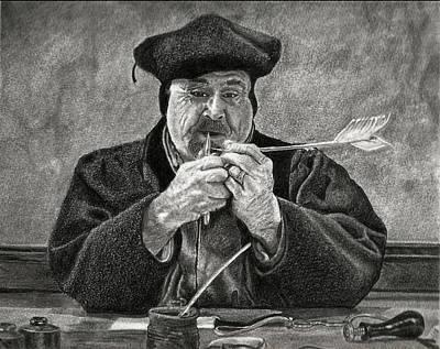 Drawing - Old World Craftsman Original