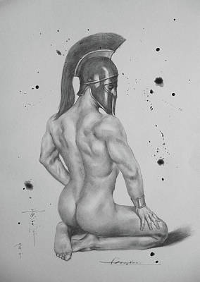 Male Nude Drawing Drawing - Drawing Pencil Male Nude On Paper #17330 by Hongtao Huang