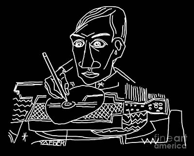 Drawing Picasso Art Print by Robert Yaeger