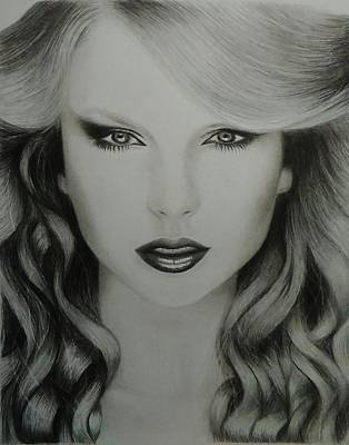 Taylor Swift Wall Art - Drawing - Drawing Taylor Swift by Chadd Dudley