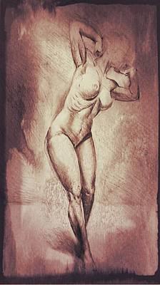 Erotic Male Drawing - Drawing_digital 3 by Darwin Leon