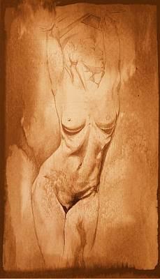 Erotic Male Drawing - Drawing_digital 5 by Darwin Leon