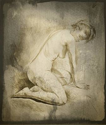 Erotic Male Drawing - Drawing_digital 8 by Darwin Leon