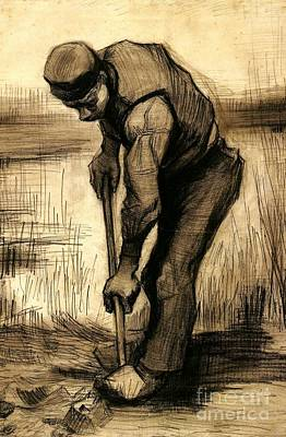 Gogh Painting - Drawings Digger by MotionAge Designs