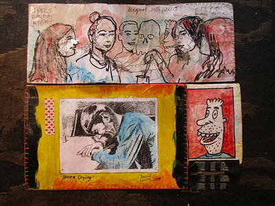 Xerox Mixed Media - Drawings Of Women, Spock, And Doy Guy by David Lovins