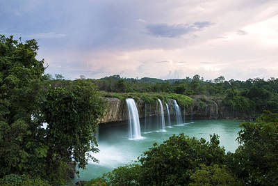 Dray Plants Photograph - Dray Nur Waterfall by Nguyen Truc