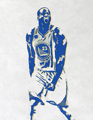Draymond Green Golden State Warriors Pixel Art Art Print by Joe Hamilton