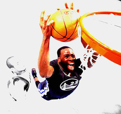 Draymond Green Taking Flight Print by Brian Reaves