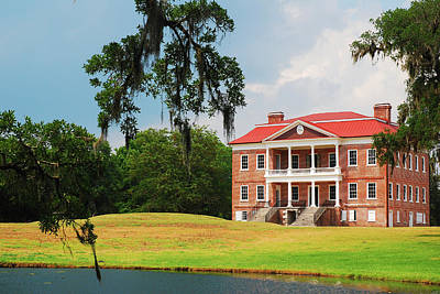 Photograph - Drayton Hall, Charleston by James Kirkikis