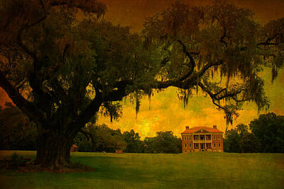 Antique Look Photograph - Drayton Hall Plantation In Charleston by Susanne Van Hulst