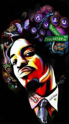 Andre 3000 Digital Art - Dre 3k by Benjamin Greggory