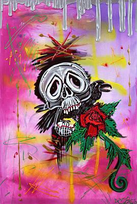 Angel Painting - Dreadful Things by Laura Barbosa