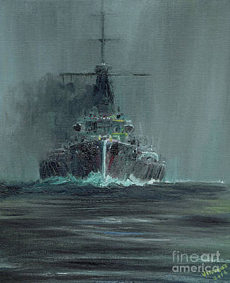 Dreadnought Painting - Dreadnought 1907 by Vincent Alexander Booth