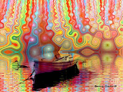 Loon Digital Art - Dream A Little Dream by Bunny Clarke