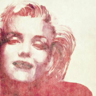 Marilyn Monroe Painting - Dream A Little Dream Of Me by Paul Lovering