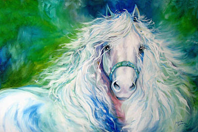 Friesian Painting - Dream Andalusian by Marcia Baldwin