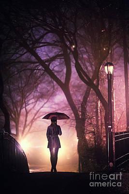 Photograph - Dream Beneath Winter Rain by Evelina Kremsdorf