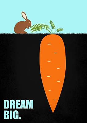 Business Digital Art - Dream Big Business Quotes Poster by Lab No 4