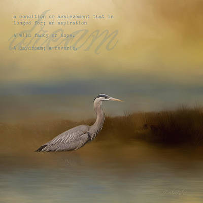 Photograph - Dream - Blue Heron Art by Jordan Blackstone