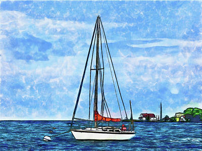 Digital Art - Dream Boat by Leslie Montgomery
