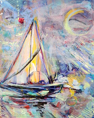Painting - Dream Boat by Mary Schiros