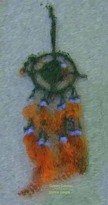 Catcher Mixed Media - Dream Catcher-1 by Donna Coupe