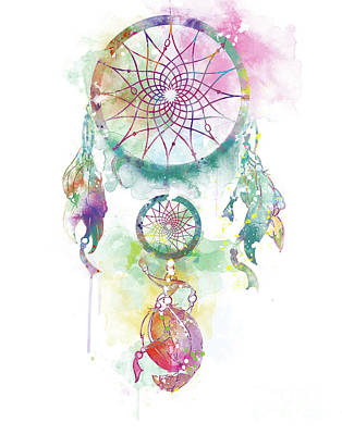 Catcher Mixed Media - Dream Catcher by Monn Print