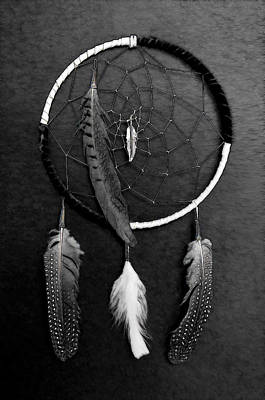 Photograph - Dream Catcher Black White by Athena Mckinzie