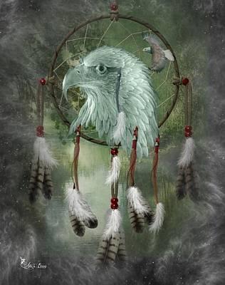 Digital Art - Dream Catcher Eagle by Ali Oppy