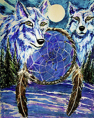 Painting - Dream Catcher by Frank Botello