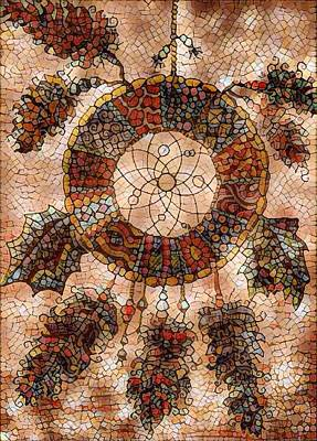 Digital Art - Dream Catcher Mosaic by Megan Walsh