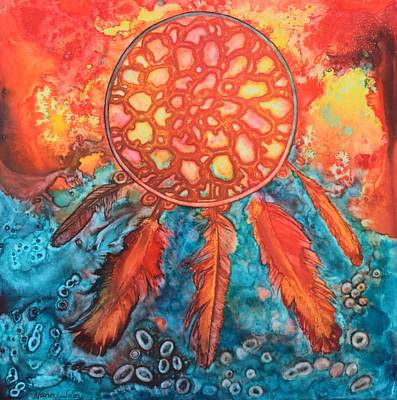 Painting - Dream Catcher by Nancy Jolley
