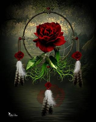 Dream Catcher Rose Art Print