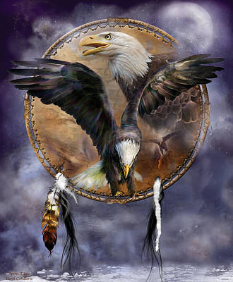 Mixed Media - Dream Catcher - Spirit Eagle 3 by Carol Cavalaris