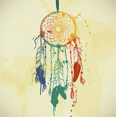 Sleeping Mixed Media - Dream Catcher Watercolor by Dan Sproul