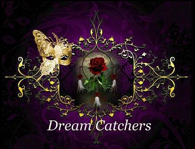 Digital Art - Dream Catchers by Ali Oppy