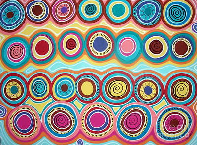 Dream Circles Art Print by Karla Gerard