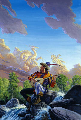 Knights Castle Painting - Dream Clouds by Richard Hescox