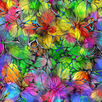 Digital Art - Dream Colored Leaves by Klara Acel
