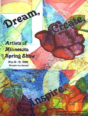 Dream Create  Inspire Art Print by Terry Honstead